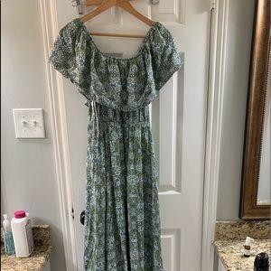 Off shoulder maxi dress from Francesca's